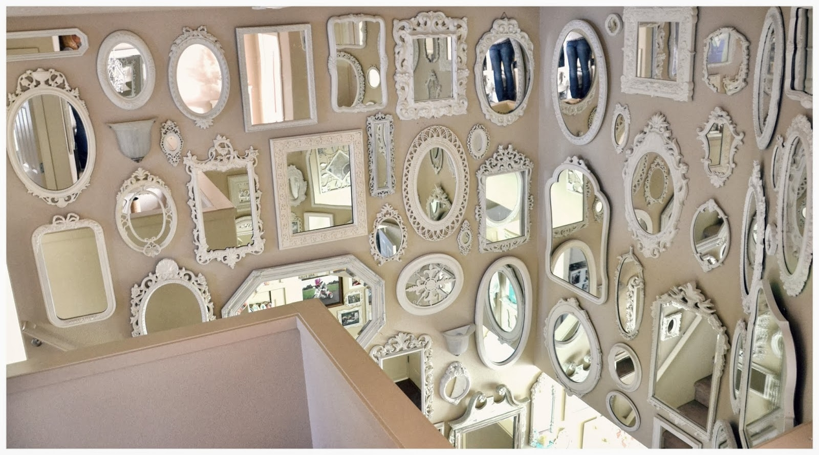 Not So Shab Shab Chic Mirror Wall Is Almost Complete With Regard To Chabby Chic Mirrors (Image 7 of 15)