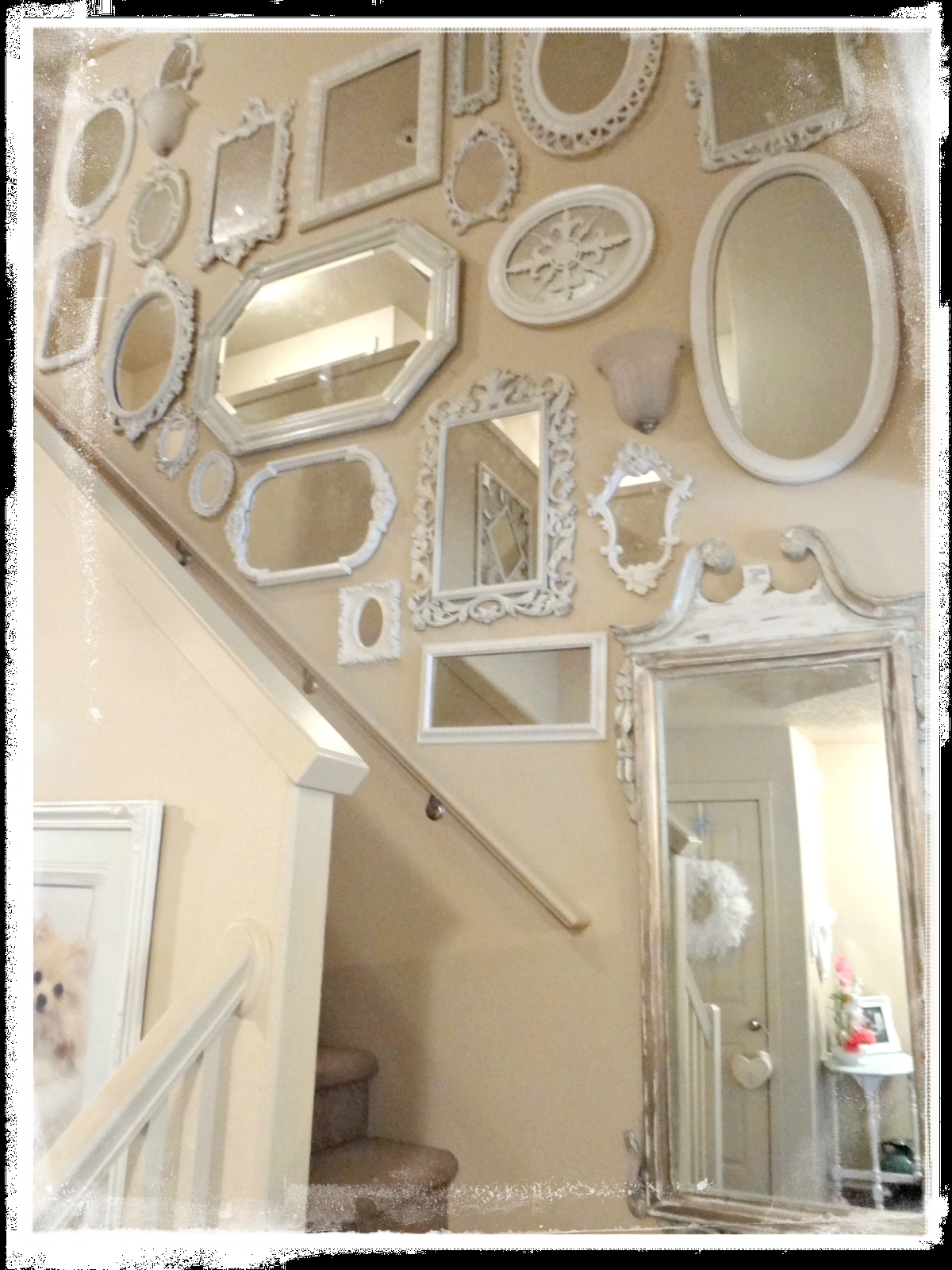 Not So Shab Shab Chic Mirrors Flowers Fur Babies Within Shabby Chic Wall Mirrors (Image 9 of 15)