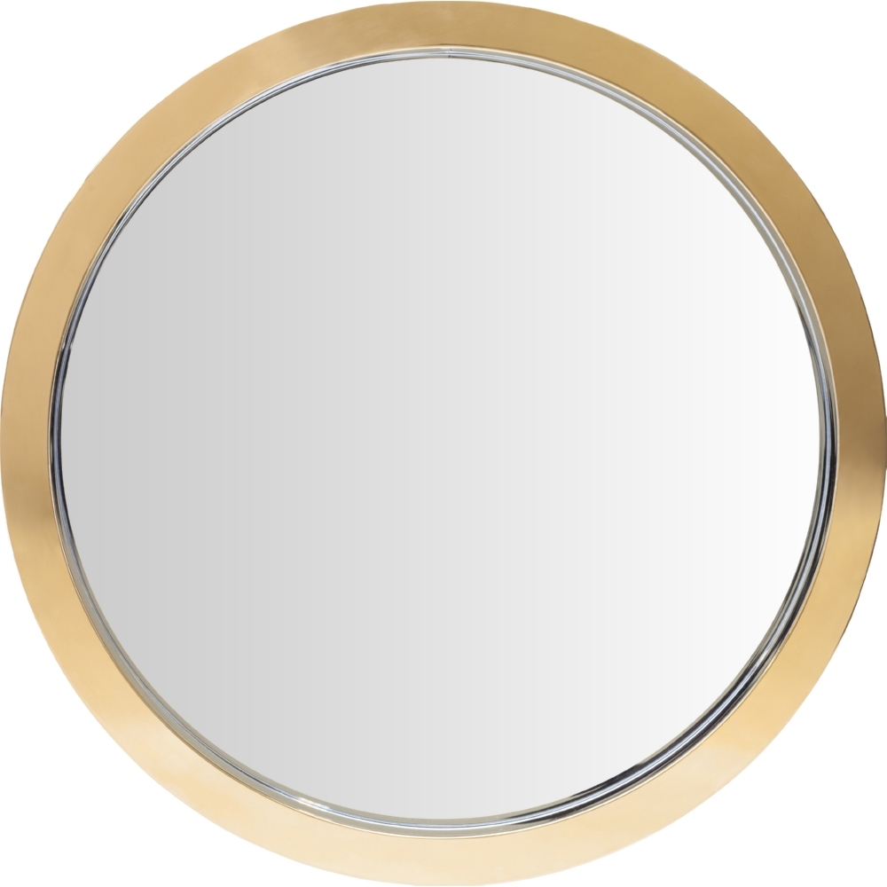 Nuevo Modern Furniture Hgde180 Julia Small Round Mirror In Gold Throughout Modern Gold Mirror (Image 11 of 15)