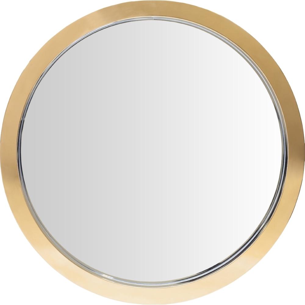Nuevo Modern Furniture Hgde180 Julia Small Round Mirror In Gold Throughout Modern Gold Mirror (View 7 of 15)