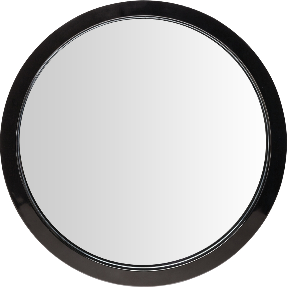 Nuevo Modern Furniture Hgde182 Julia Large Round Mirror In Black Inside Large Round Mirrors (Image 14 of 15)