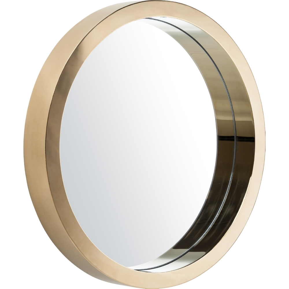 Nuevo Modern Furniture Hgde183 Julia Large Round Mirror In Gold Inside Round Contemporary Mirror (Image 12 of 15)