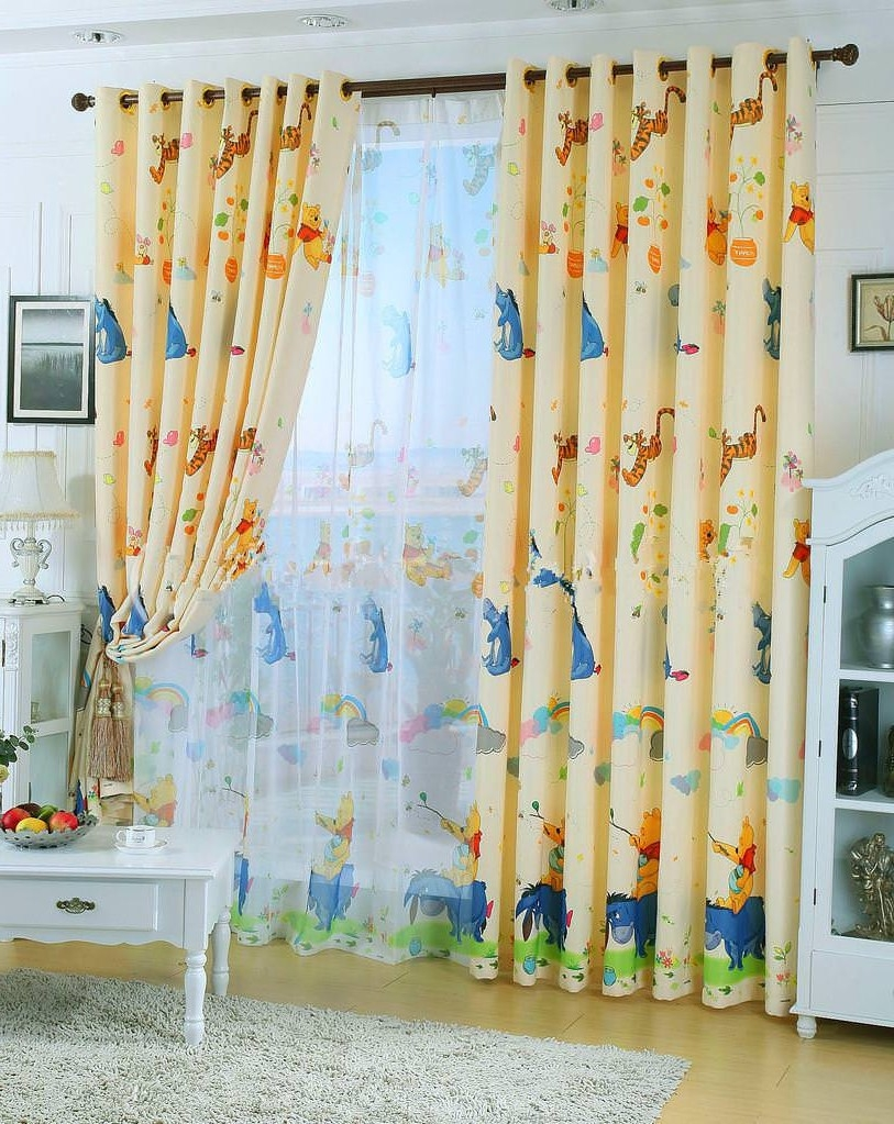 Nursery Curtains With Blackout Lining Pink Fabric Curtain Lexie Inside White Curtains With Blackout Lining (View 12 of 15)