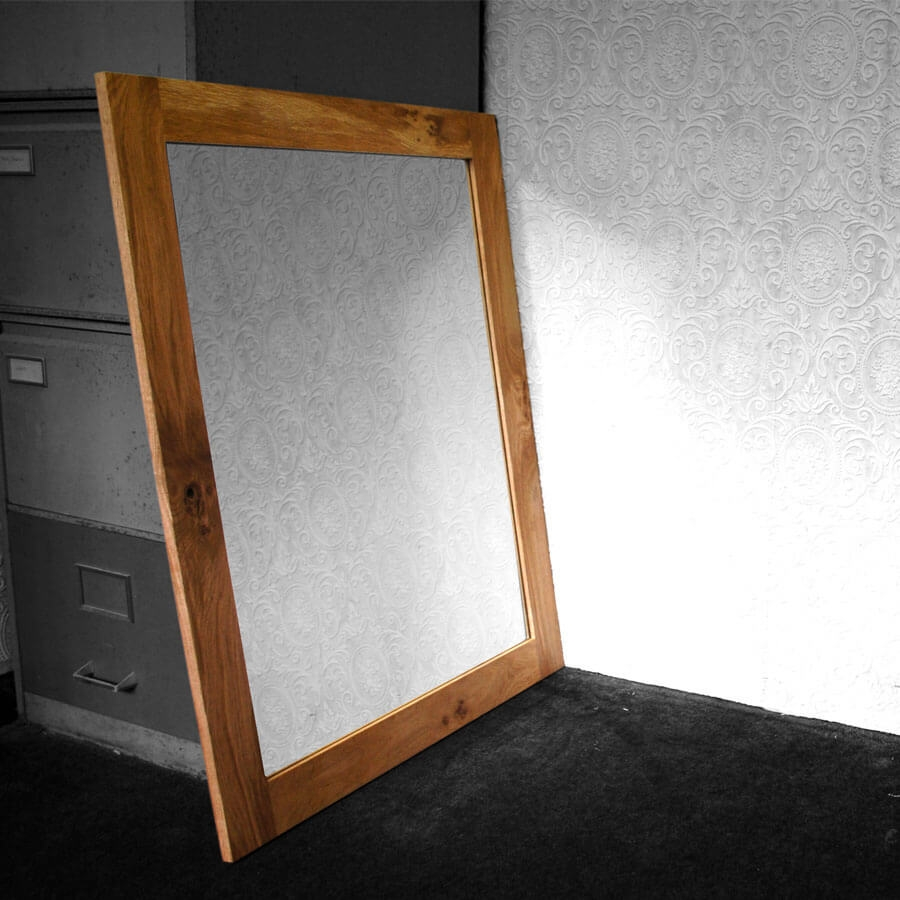 Featured Image of Large Oak Framed Mirror