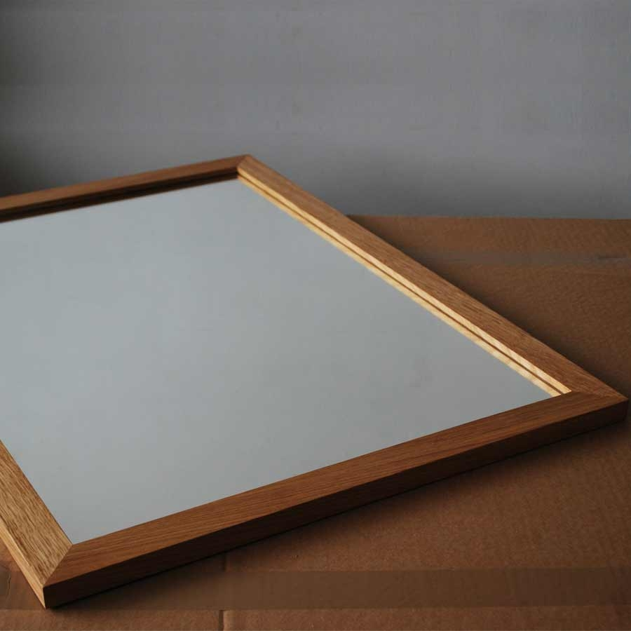 Oak Framed Mirror Large Regarding Large Oak Framed Mirror (Image 13 of 15)