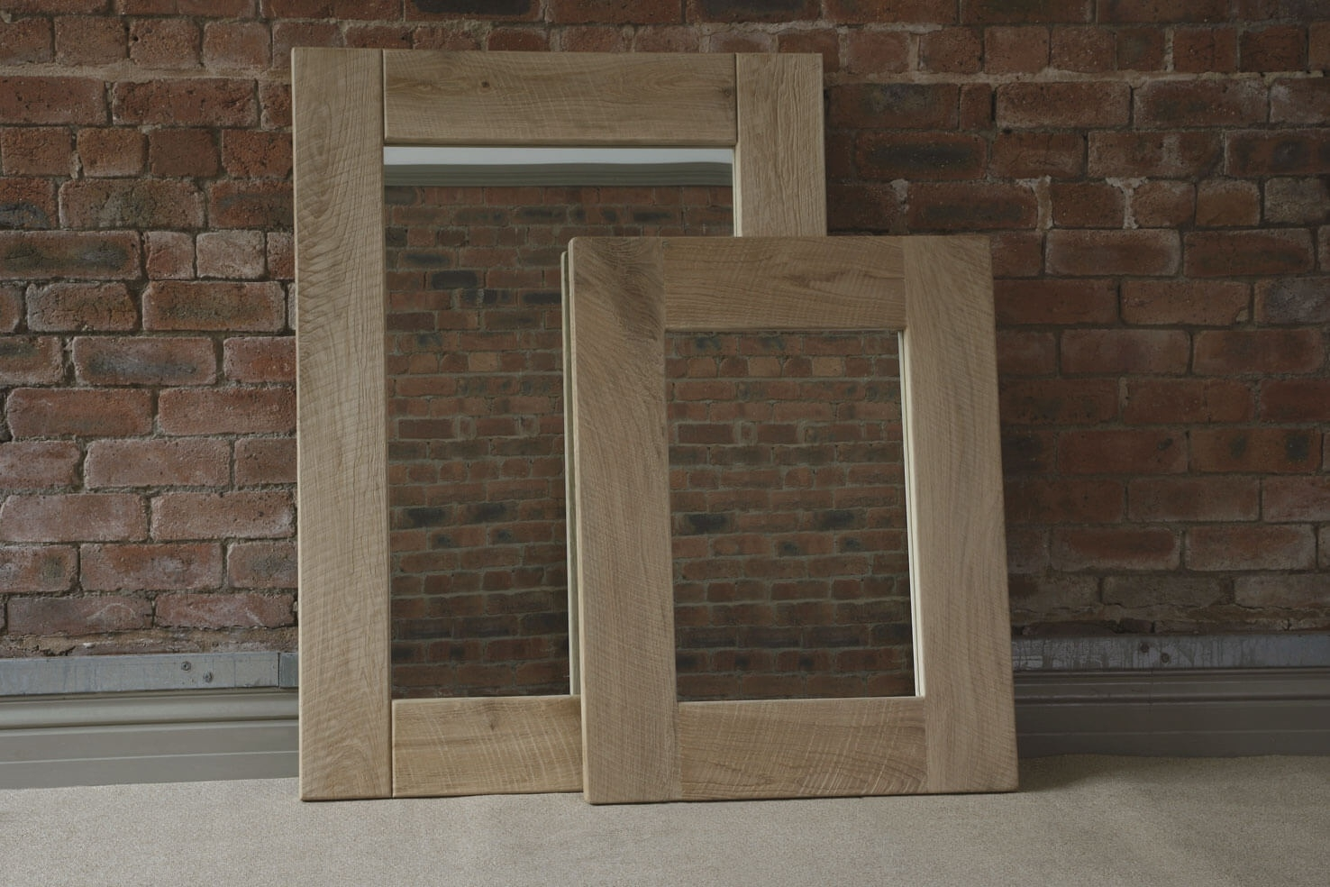 Oak Mirror Handcrafted Indigo Furniture Regarding Oak Mirror (Image 10 of 15)