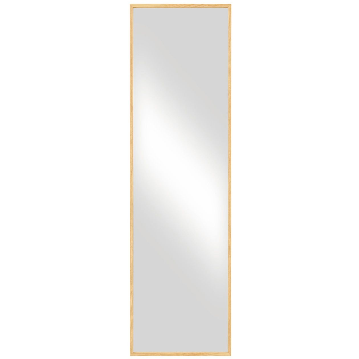 Oak Mirror L 44x33x1505cm In Oak Mirror (Image 11 of 15)