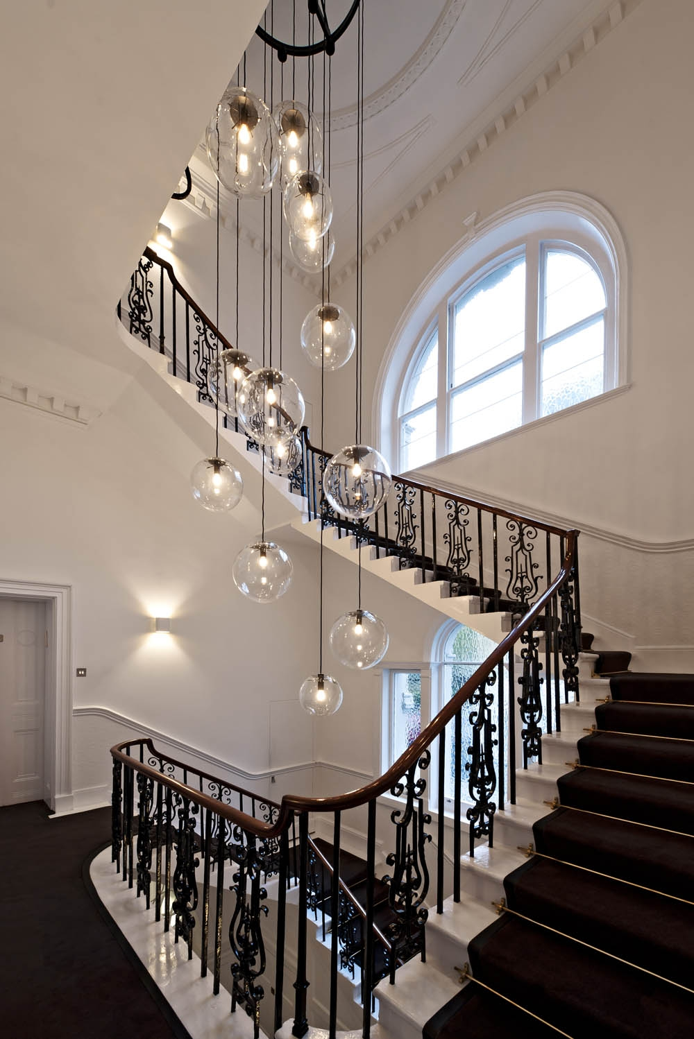 Obviously Over The Top But I Like The Idea For The Home Within Staircase Chandeliers (Image 13 of 15)