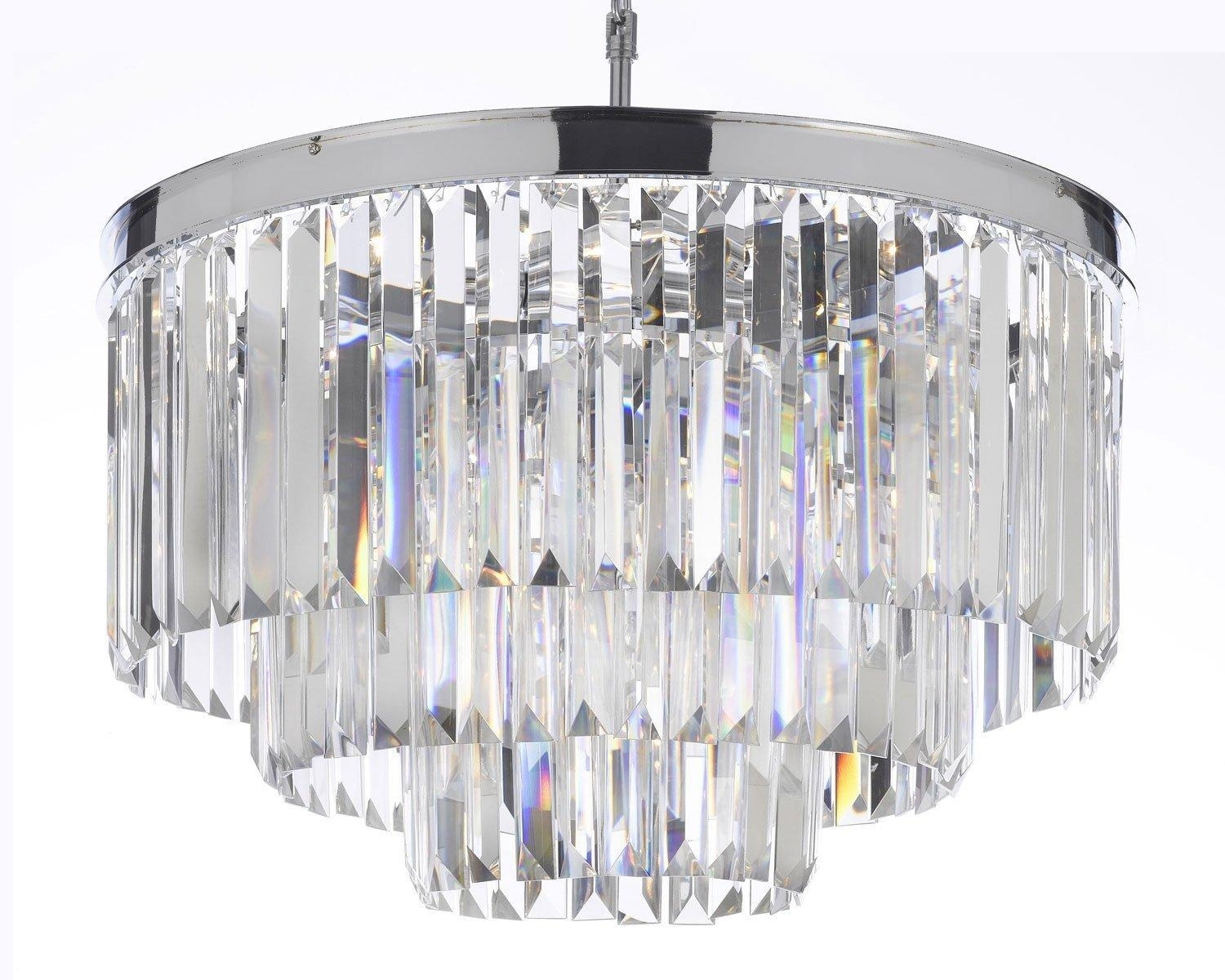 Odeon Empress Crystal Glass Fringe 3 Tier Chandelier Lighting Regarding 3 Tier Crystal Chandelier (Image 11 of 15)