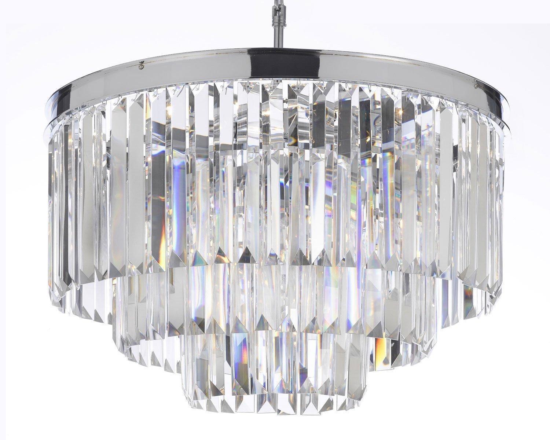 Odeon Empress Crystal Glass Fringe 3 Tier Chandelier Lighting Regarding 3 Tier Crystal Chandelier (View 15 of 15)