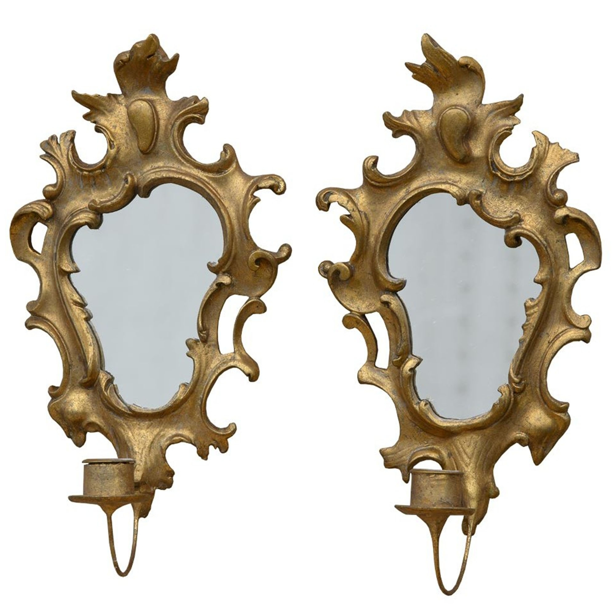 Of Gold Gilt Leaf Antique French Style Mirrors With French Style Mirrors (Image 10 of 15)