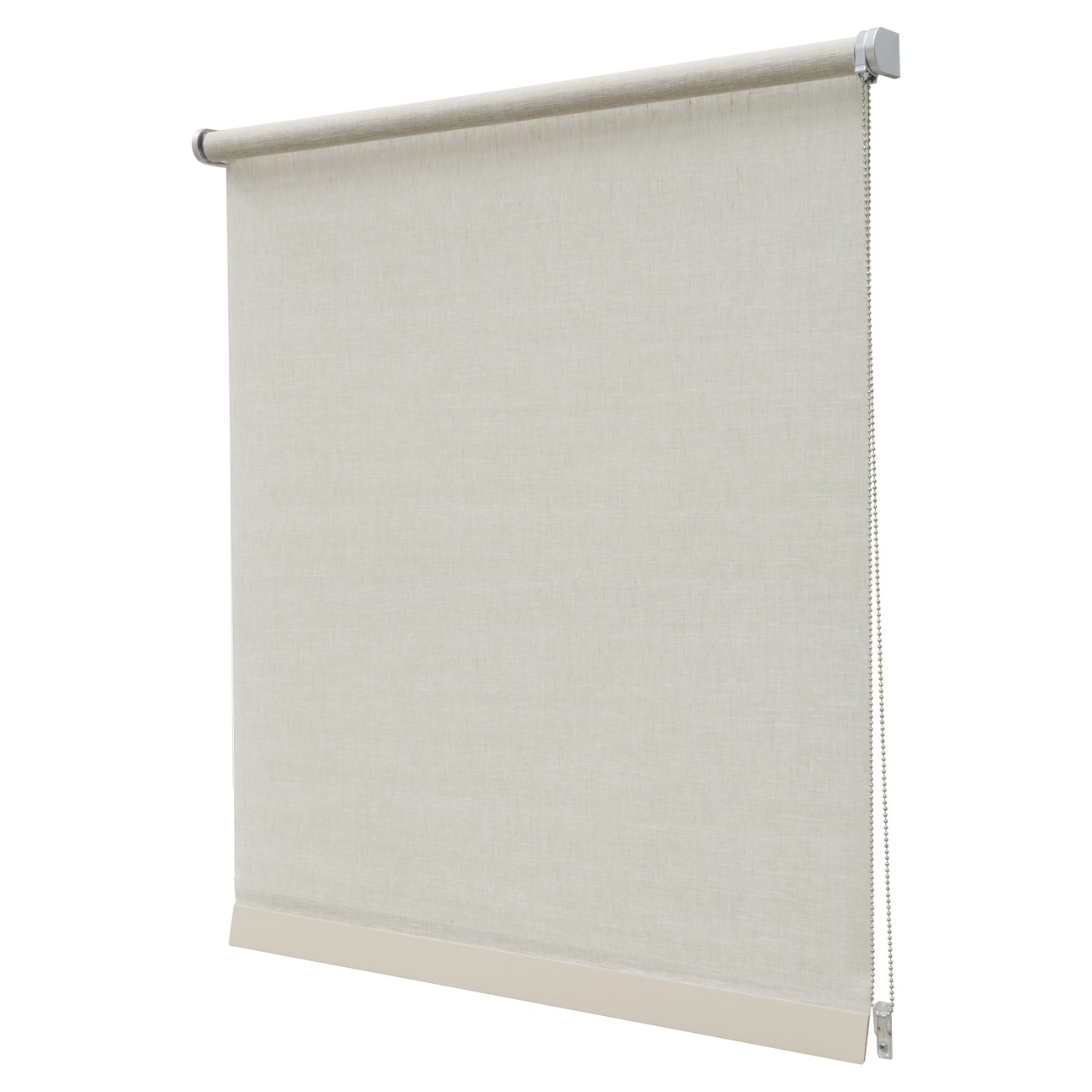 Offers On Luxury Roller Blinds Rough Blend Linen Look Cream Regarding Linen Roller Blind (Image 11 of 15)