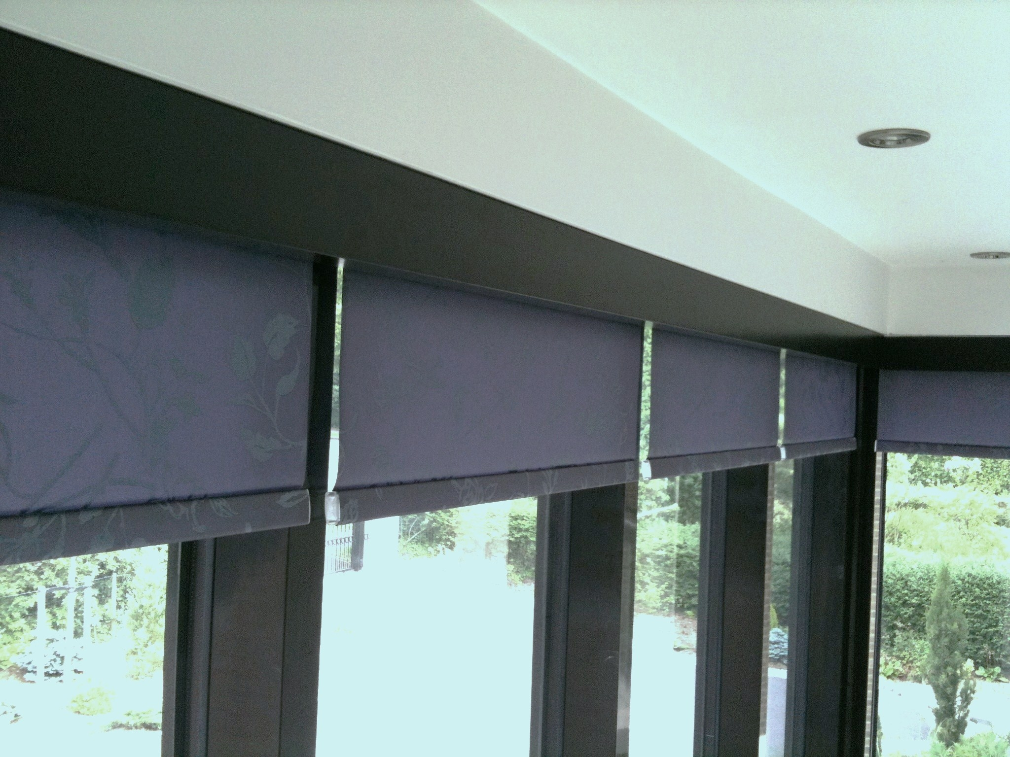 Office Blinds To Hide The Roller Blinds And To Match The Within Roman Blinds Black (View 10 of 15)