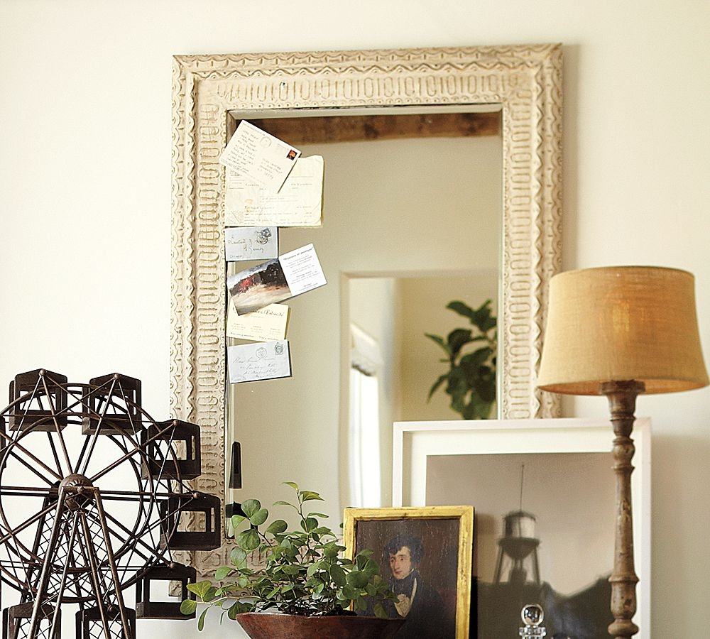 Ohhhhhhh I Love The Barn Pottery Barn That Is Vintage With Regard To Pressed Tin Mirrors (View 14 of 15)
