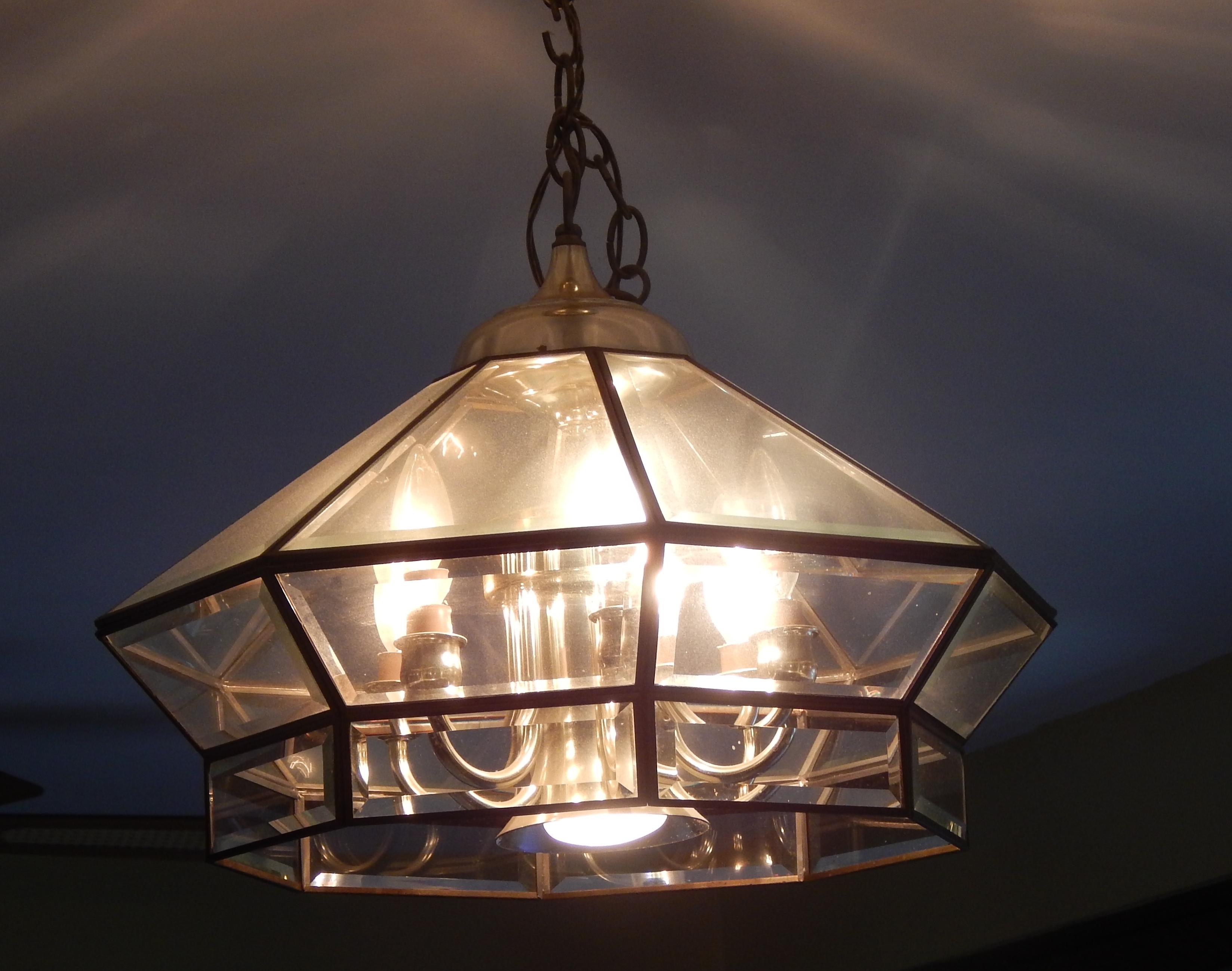 Old Brass Chandelier Update Restyle4life For Brass And Glass Chandelier (Image 12 of 15)