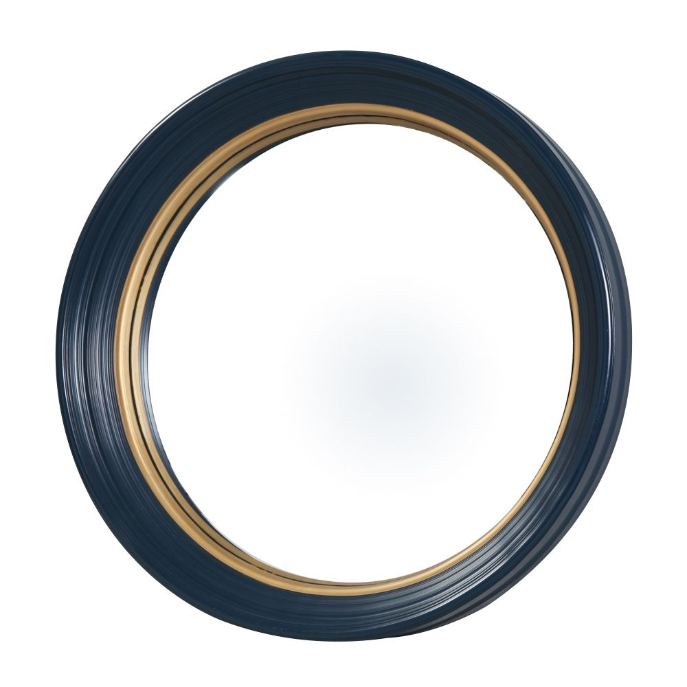 Olly Round Blue Convex Mirror Large In Blue Round Mirror (Image 8 of 15)
