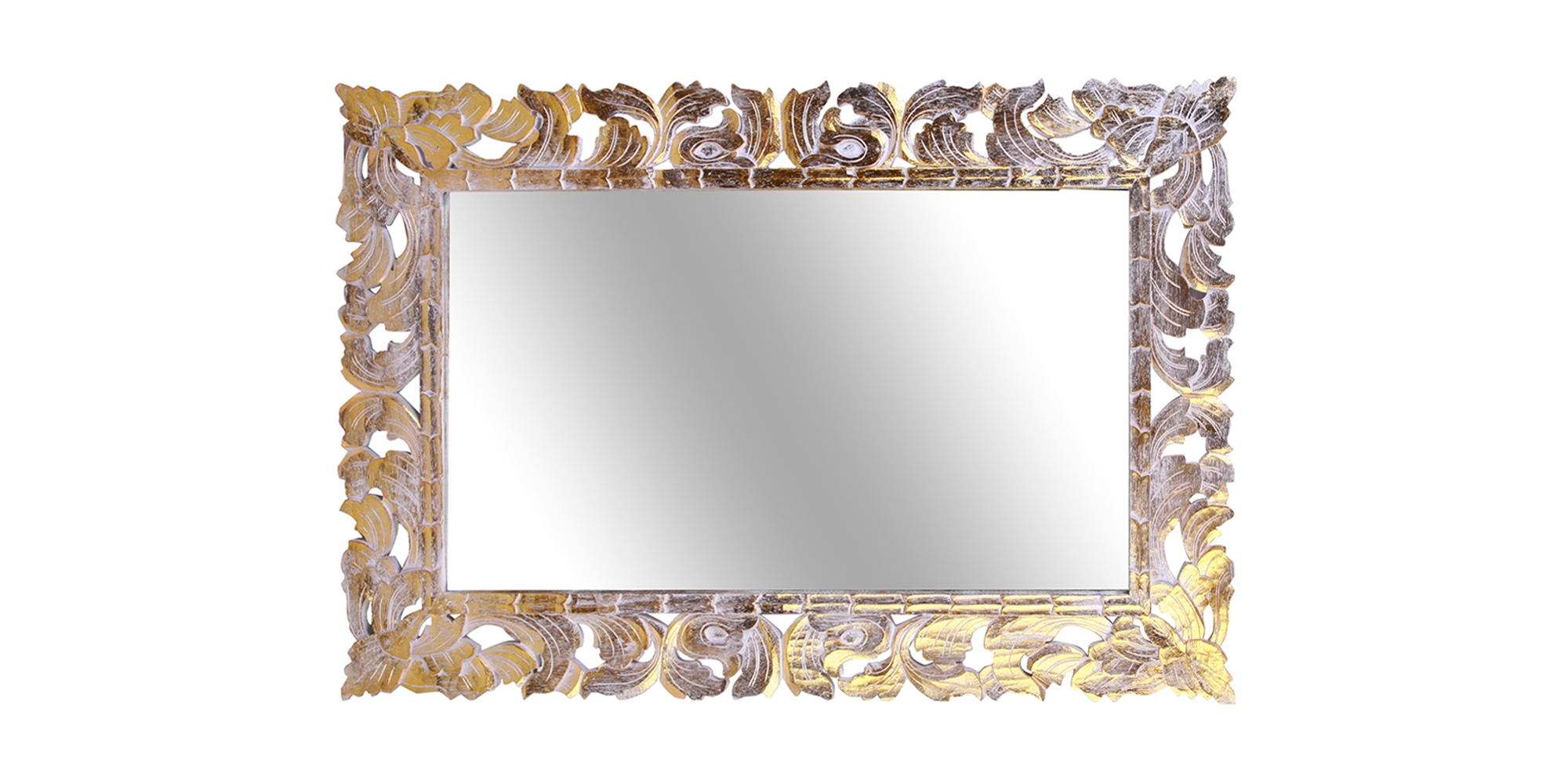 Omnia Craft Bali Rectangular Gilded Mirror Intended For Gilded Mirror (Image 10 of 15)