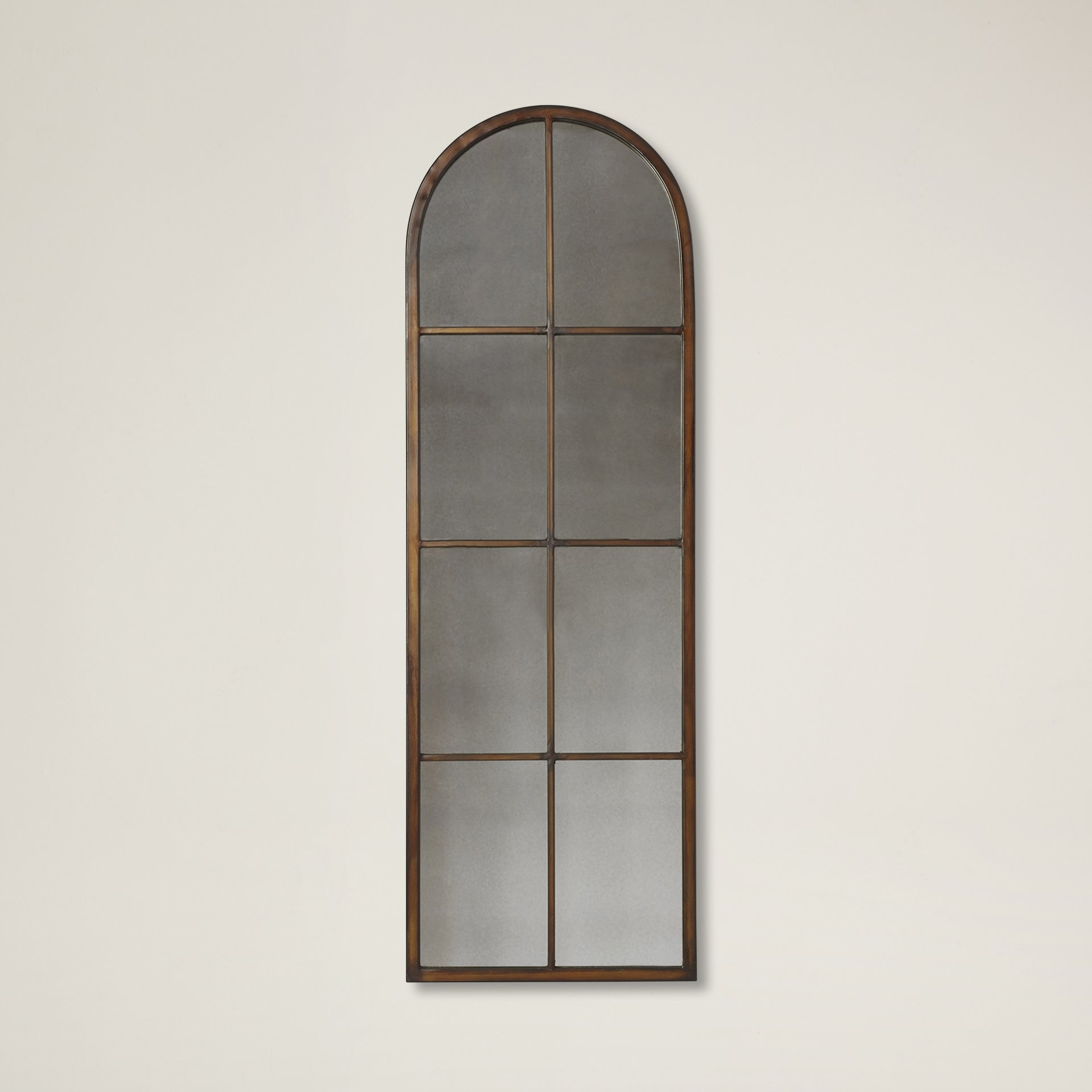 One Allium Way Nerissa Arched Wall Mirror Reviews Wayfair Throughout Arched Wall Mirror (View 6 of 15)