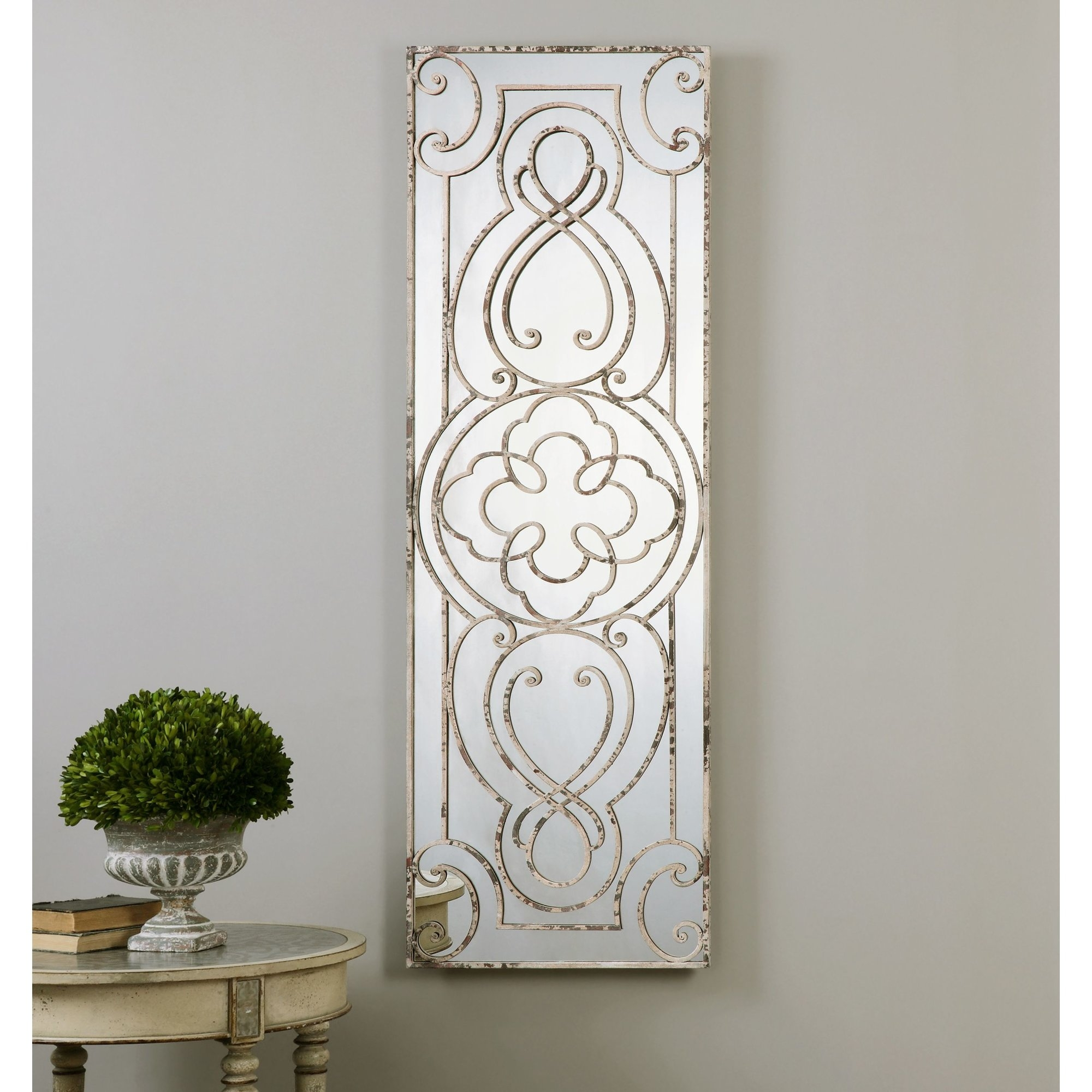 One Allium Way White Metal Mirror Reviews Wayfair In White Metal Mirror (Image 10 of 15)
