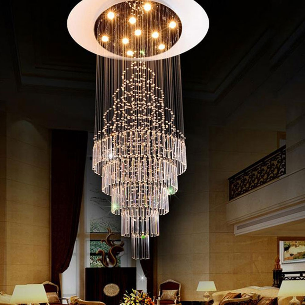 Online Buy Wholesale Big Chandelier From China Big Chandelier Within Huge Crystal Chandeliers (Image 12 of 15)