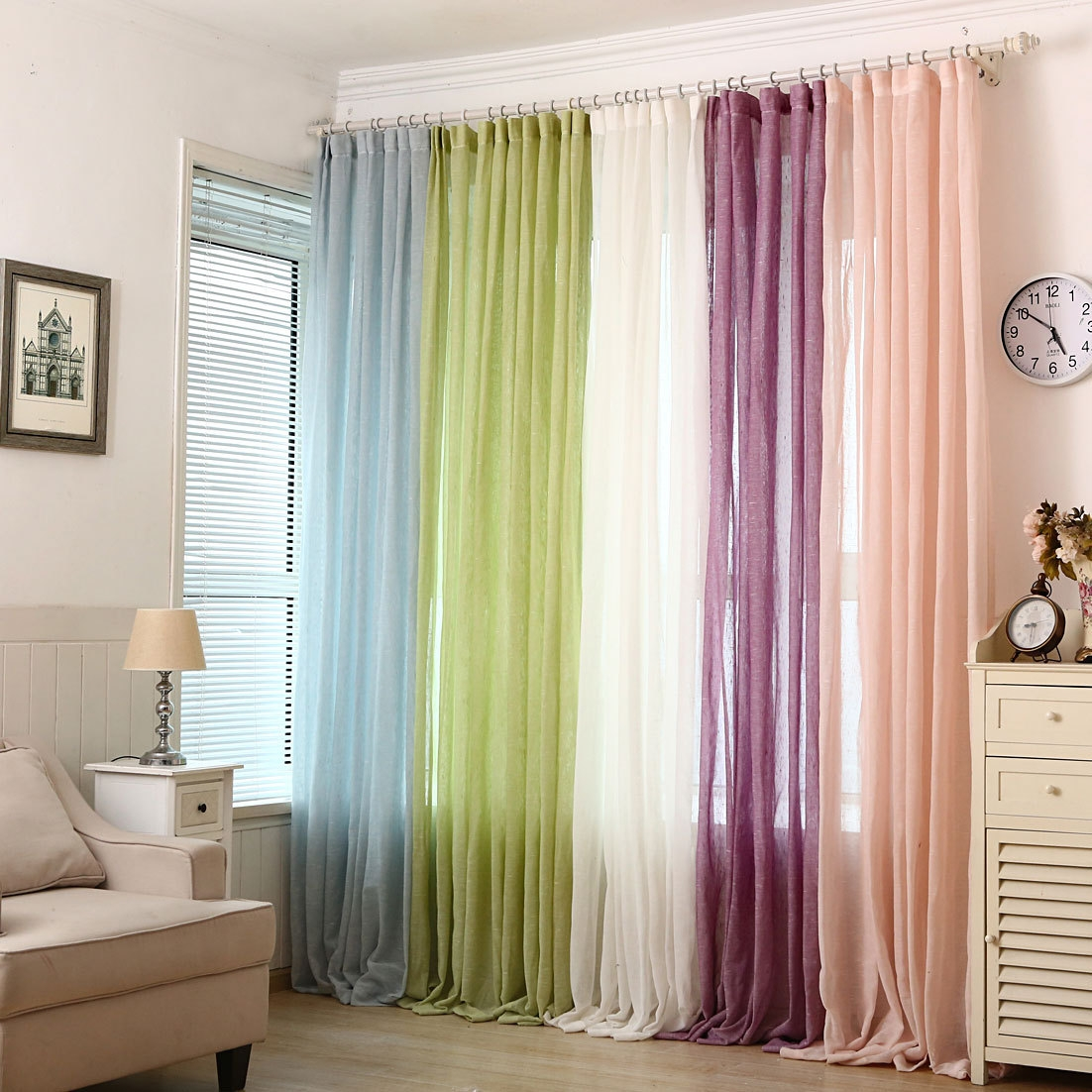 Online Buy Wholesale Linen Gauze Curtains From China Linen Gauze With Regard To Linen Gauze Curtains (Image 9 of 15)
