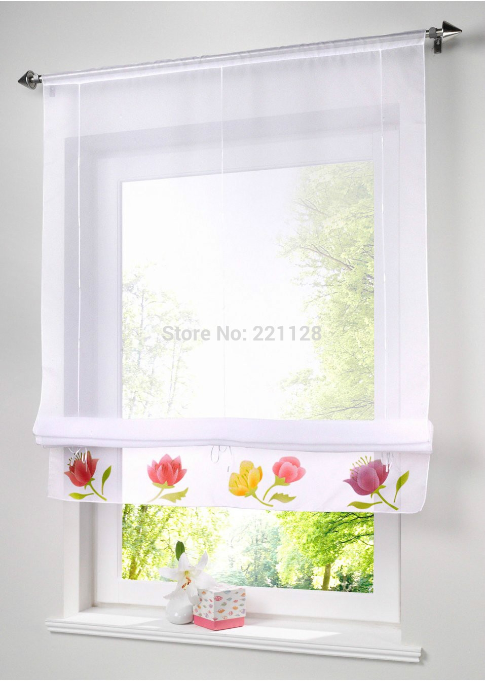 Online Get Cheap Bathroom Blinds Aliexpress Alibaba Group Intended For Bathroom Roman Blinds (Image 7 of 15)