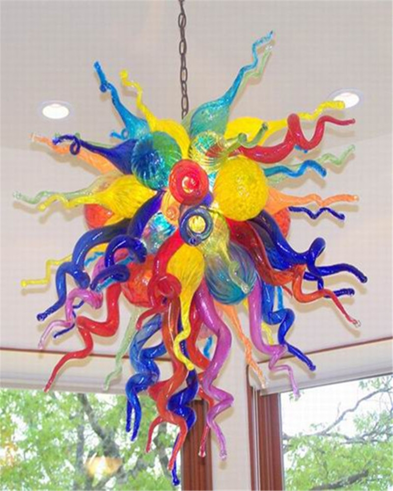 Online Get Cheap Coloured Glass Chandeliers Aliexpress In Coloured Glass Chandelier (Image 13 of 15)