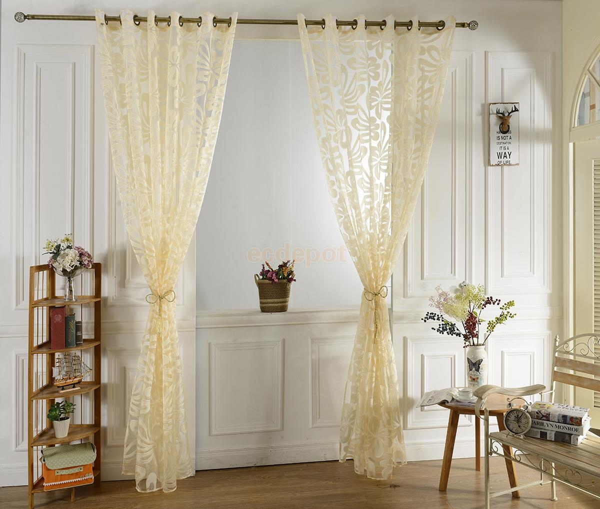 Online Get Cheap Jacquard Eyelet Curtains Aliexpress Regarding Sheer Eyelet Curtains (Image 9 of 15)