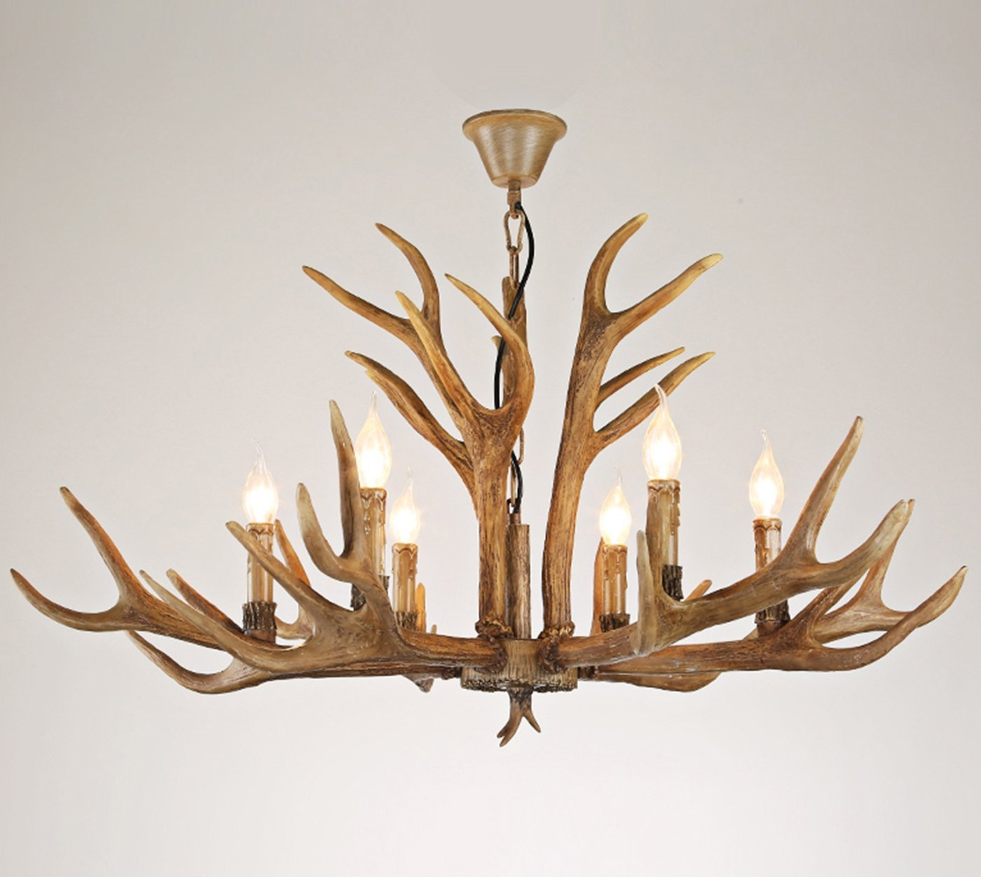Online Get Cheap Modern Deer Horn Aliexpress Alibaba Group Regarding Modern Antler Chandelier (View 3 of 15)
