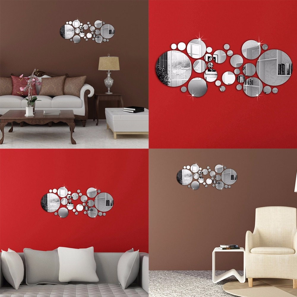 Online Get Cheap Red Wall Mirrors Aliexpress Alibaba Group Intended For Red Wall Mirrors (Image 10 of 15)