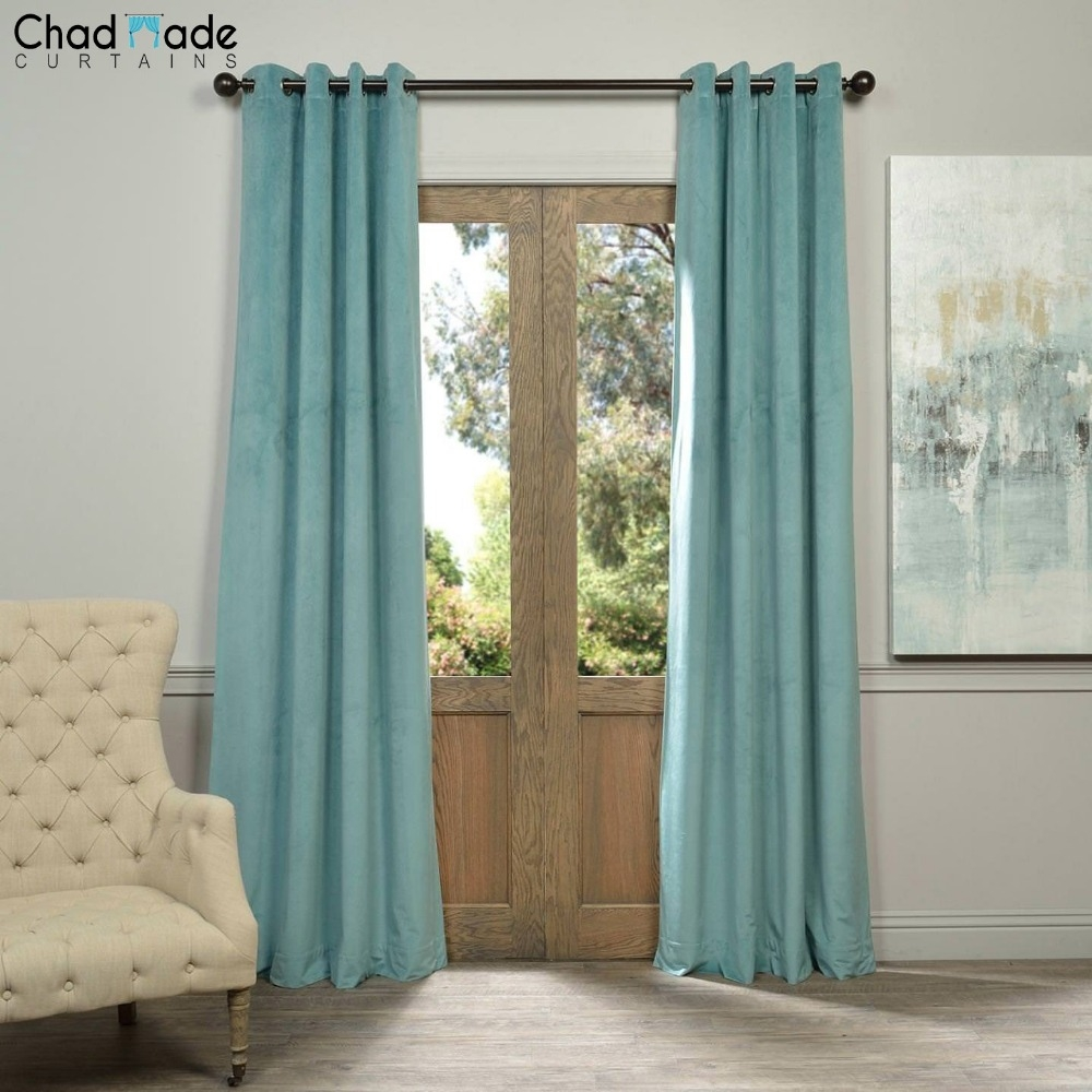 Online Get Cheap Velvet Window Curtains Aliexpress Alibaba Inside Velvet Blinds (Image 10 of 15)