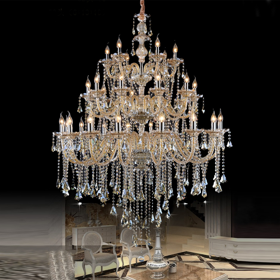 Online Get Cheap Venetian Glass Lighting Aliexpress Alibaba Intended For Cheap Big Chandeliers (Image 14 of 15)