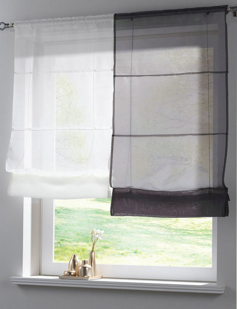 Online Get Cheap Voile Roman Blinds Aliexpress Alibaba Group In Voile Blinds (View 7 of 15)