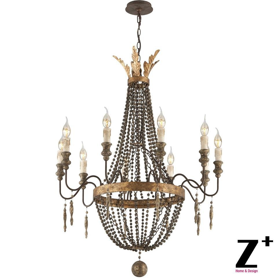 Online Get Cheap Wooden Chandelier Beads Aliexpress Alibaba Inside French Wooden Chandelier (Image 12 of 15)