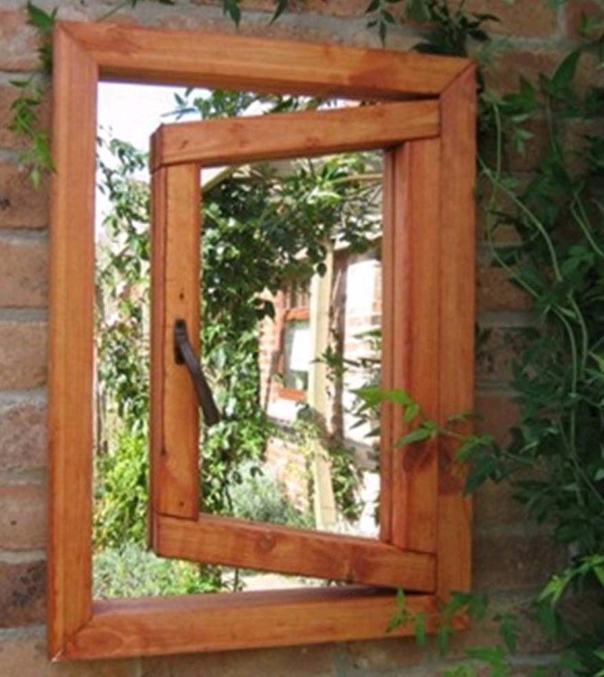 Open Window Garden Mirror Outside In Castlewellan County Within Garden Window Mirror (Image 8 of 15)