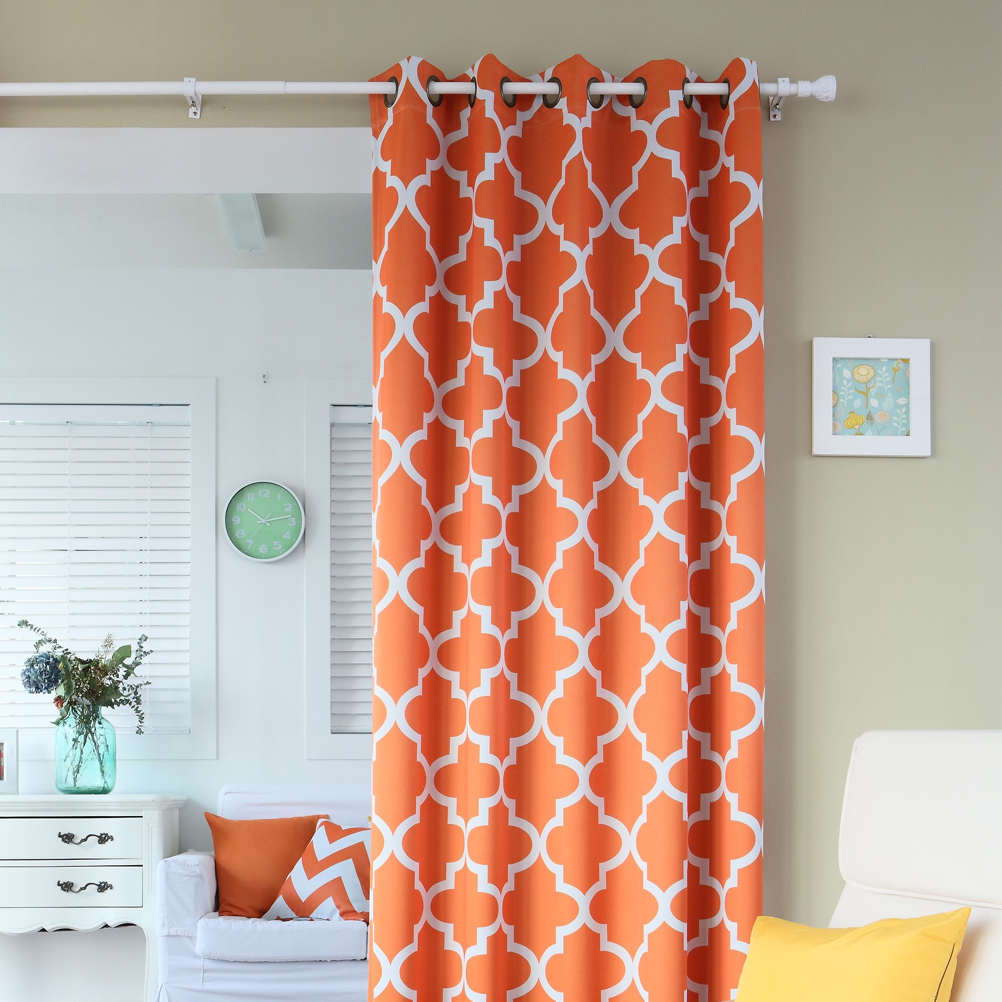 Orange And Aqua Curtains Inspiration Decoration Il Fullxfull Pertaining To Moroccan Print Curtains (Image 13 of 15)