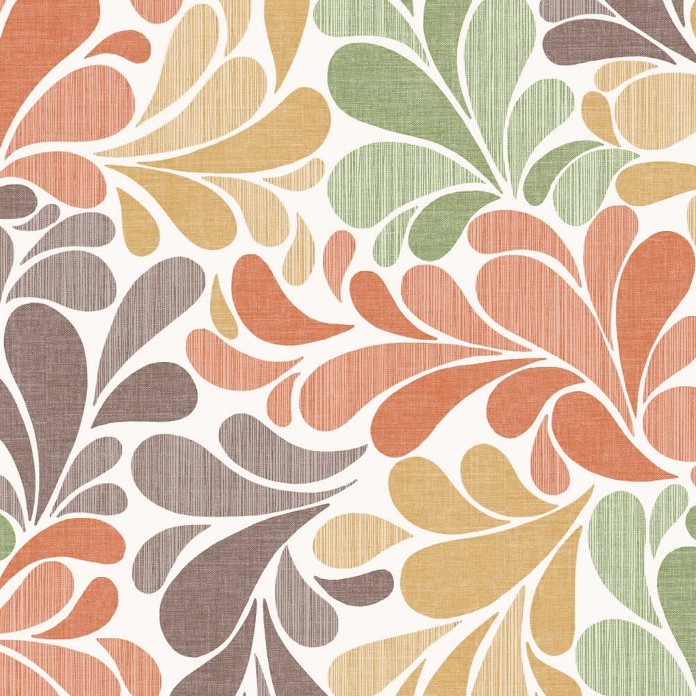 Orange Brown Green Autumnal Leaves Patterned Roller Blinds Intended For Orange Roller Blinds (Image 9 of 15)