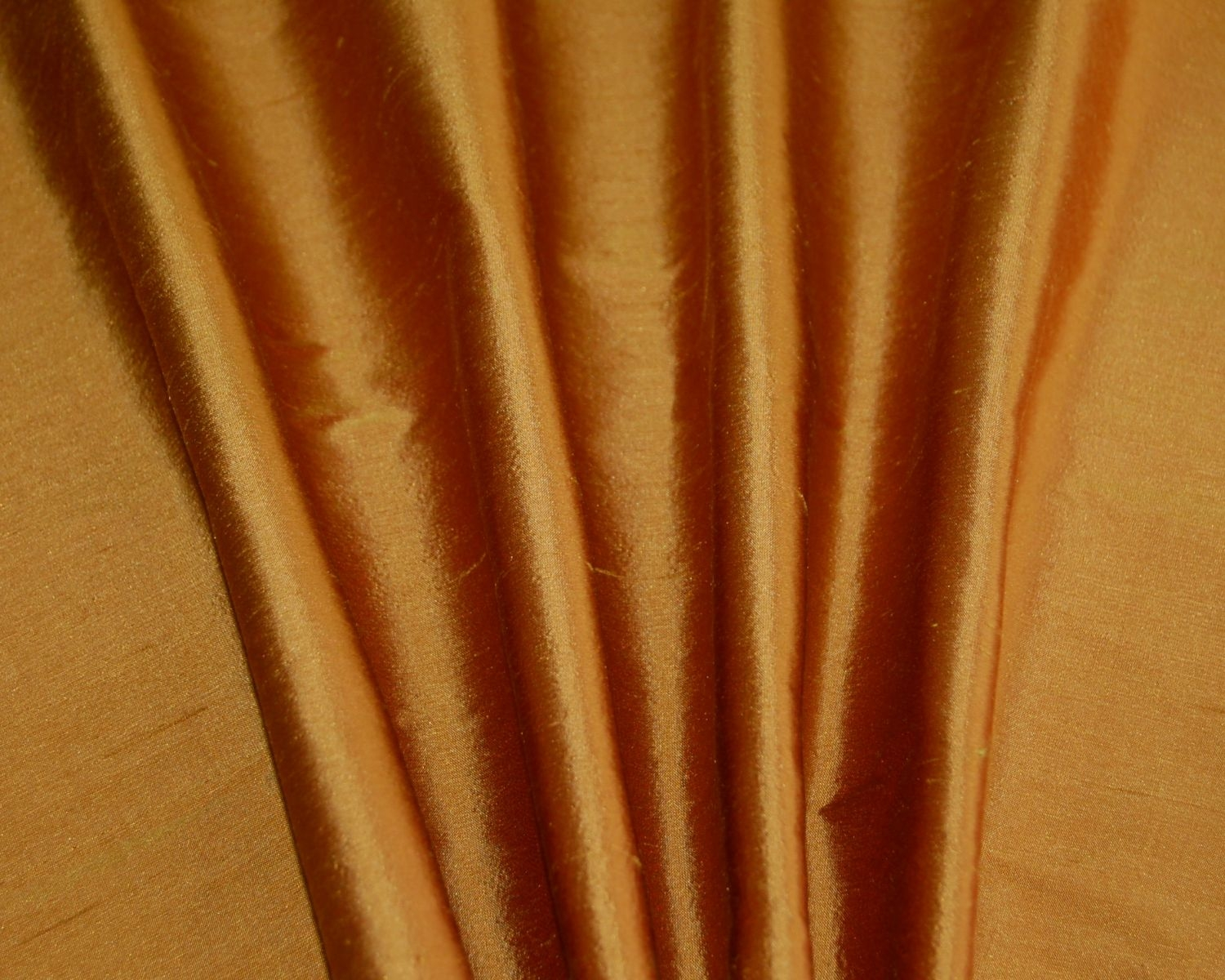 Orange Dupioni Silk Drapes Curtains Shades Custom Made In The Usa Intended For Orange Silk Curtains (Image 9 of 15)