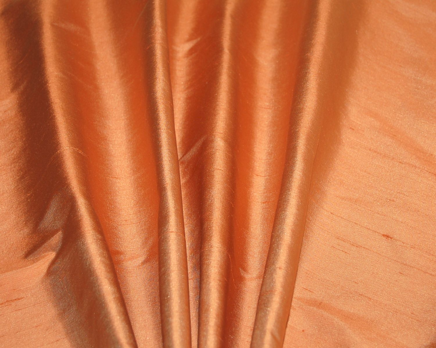 Orange Dupioni Silk Drapes Curtains Shades Custom Made In The Usa With Orange Silk Curtains (Image 11 of 15)