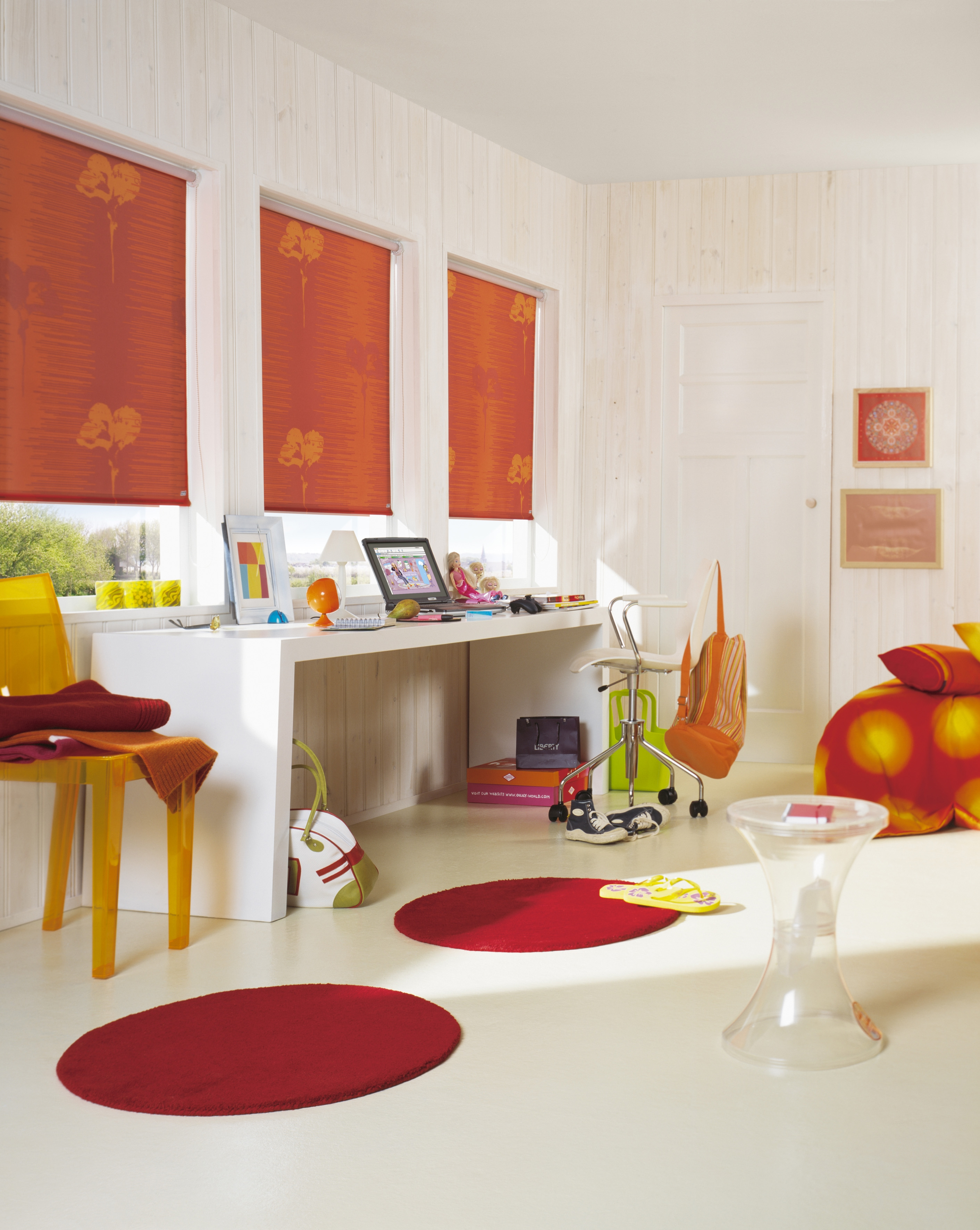 Orange Roller Blinds Bathroom Ideas Pinterest Uxui Designer Pertaining To Orange Roller Blinds (Image 11 of 15)