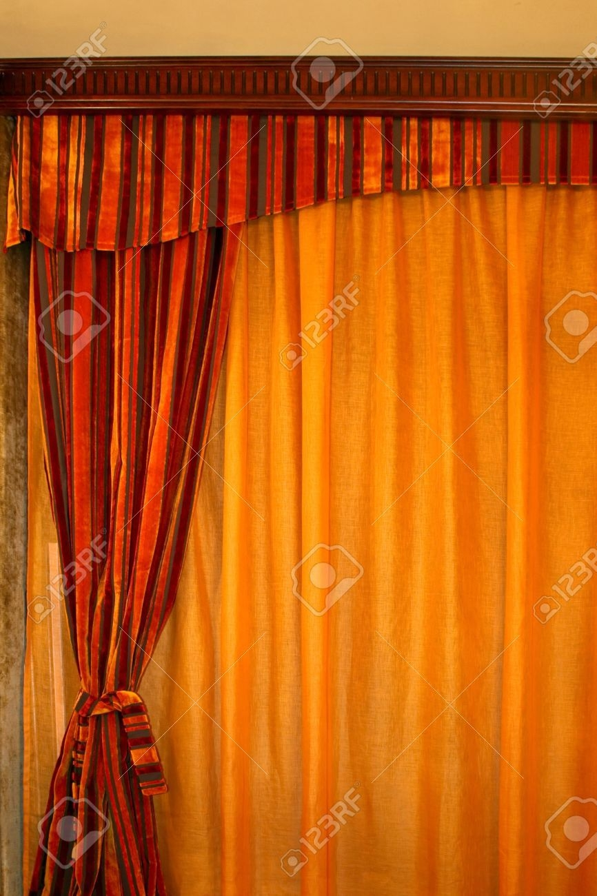Orange Velvet Curtains Pertaining To Orange Velvet Curtains (View 2 of 15)