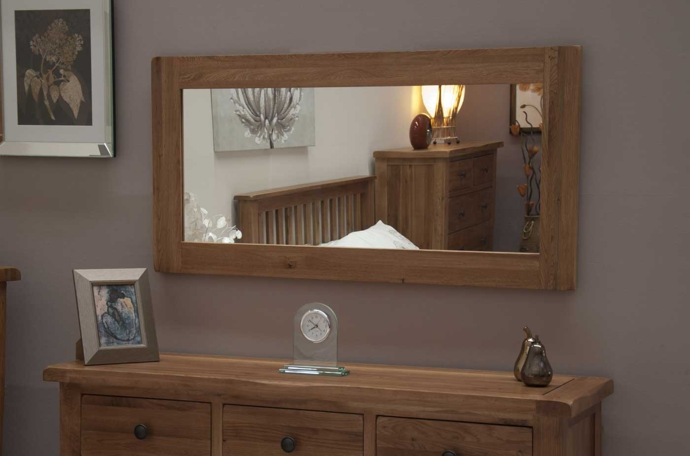 Original Rustic Oak Large Mirror Furniture Plus Online Throughout Rustic Oak Mirror (Image 9 of 15)
