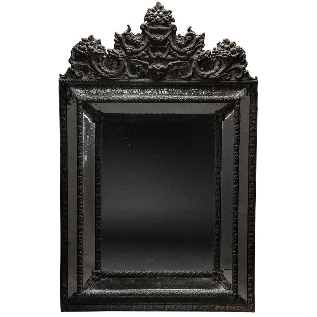 Ornate Black Mirror At 1stdibs With Black Ornate Mirrors (Image 10 of 15)