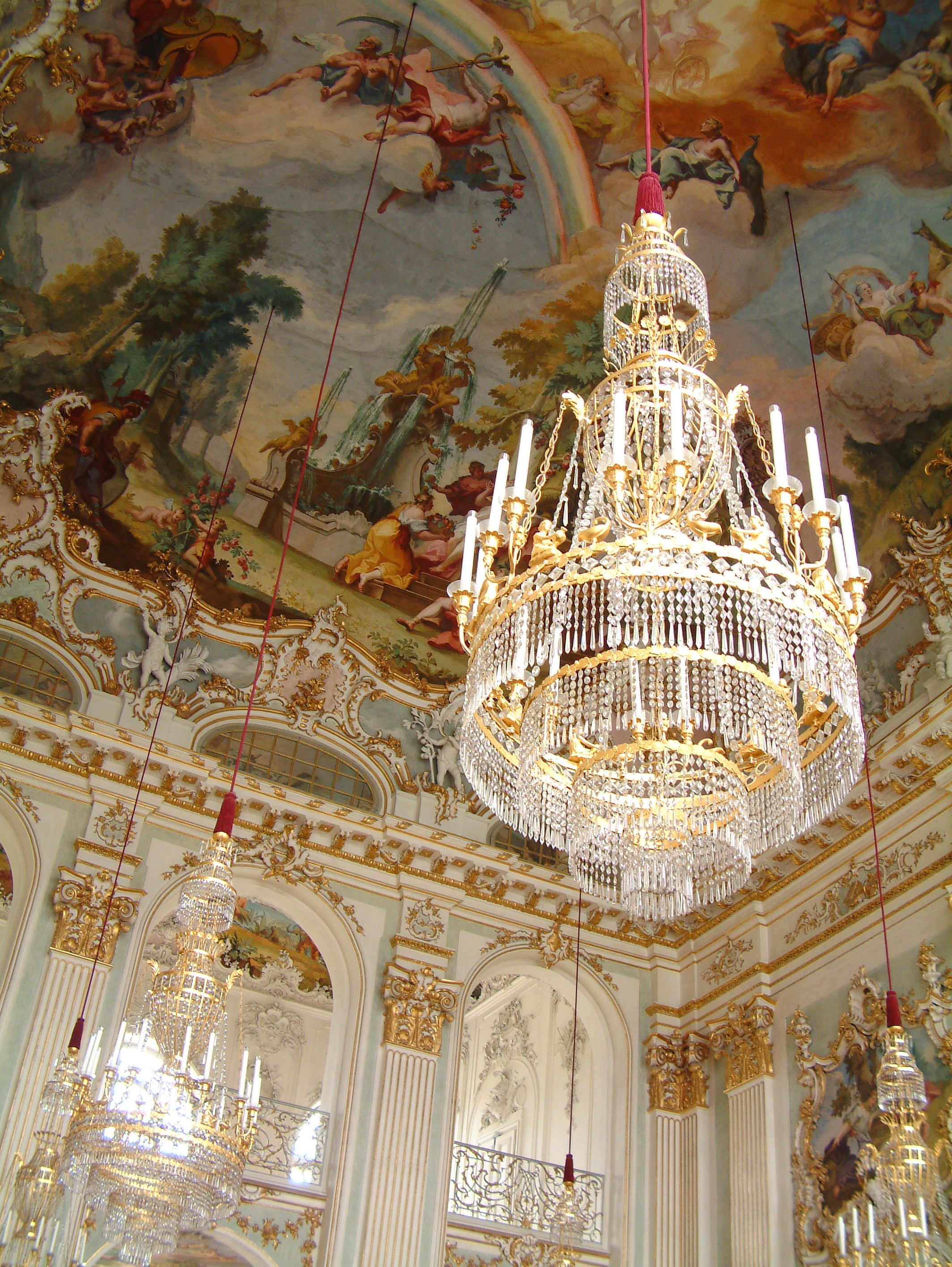 Ornate Chandeliers In The Nymphenburg Palace On The Outskirts Of Pertaining To Ornate Chandeliers (Image 11 of 15)