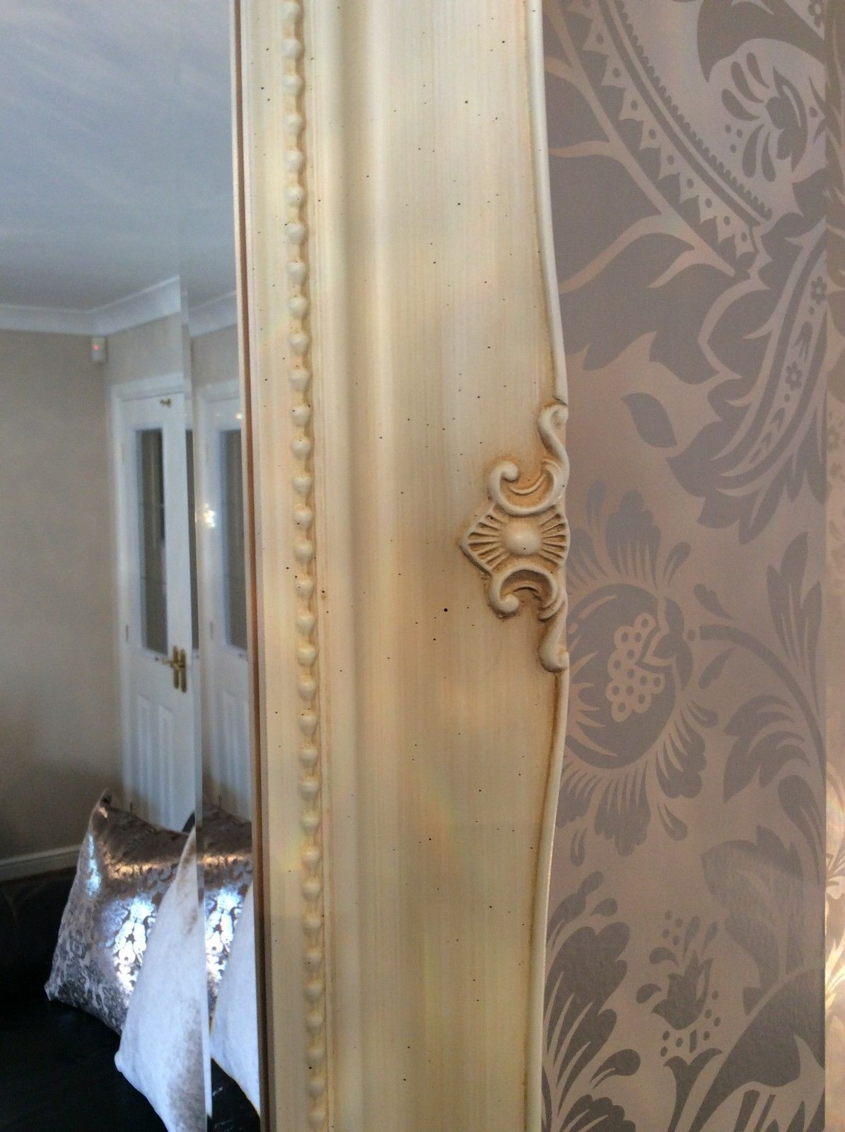 Ornate Cream Ivory Shab Chic French Inspired Mirror Bargain Throughout French Inspired Mirrors (Image 12 of 15)