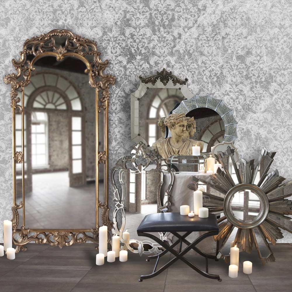 Ornate Frame Venetian Designer Wall Mirror Hre 103 Accent Mirrors Inside Ornate Wall Mirror (Image 6 of 15)