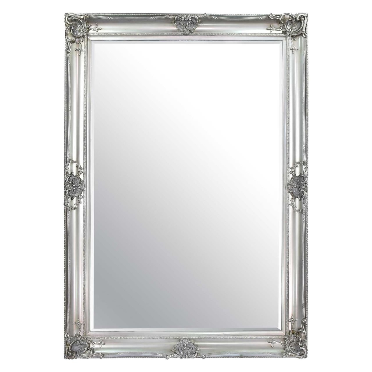 Ornate Framed Mirrors Regarding Silver Ornate Mirror (Image 9 of 15)