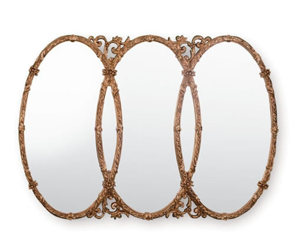 Ornate Gilt Mirrors Yg240 Triple Gold Mirror Ireland In Triple Oval Mirror (Image 8 of 15)