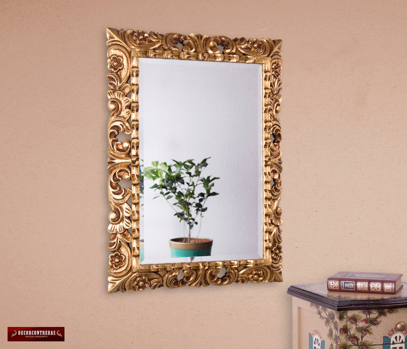 Ornate Gold Leaf Mirror Large Wall Art Mystical Throughout Ornate Gold Mirror (Image 13 of 15)