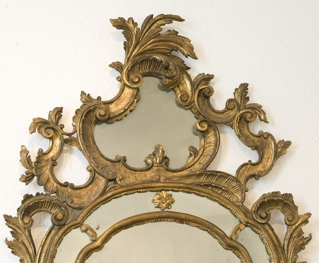 Ornate Gold Mirror High Cotton Style Pinterest Antiquariato Within Ornate Antique Mirrors (Image 9 of 14)